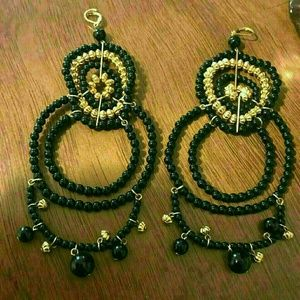 Bebe long earrings