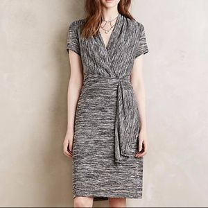 Anthropologie Maeve Cinched Surplice Dress
