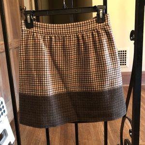 JCrew wool houndstooth skirt
