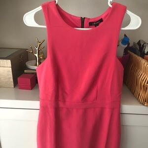 Pink back zip dress