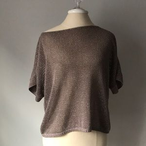 a.n.a crochet off the shoulder top blouse PM M