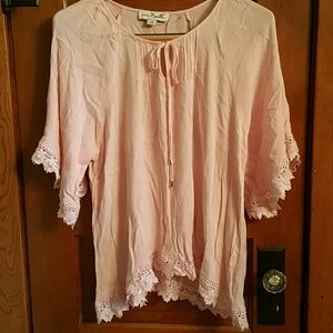 Light Pink Top with crochet