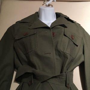 Calvin Klein - olive green detailing jacket