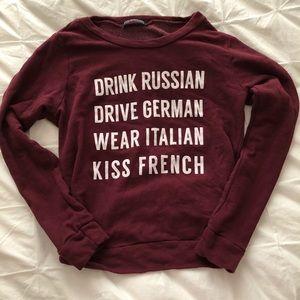 Maroon Graphic Sweatshirt