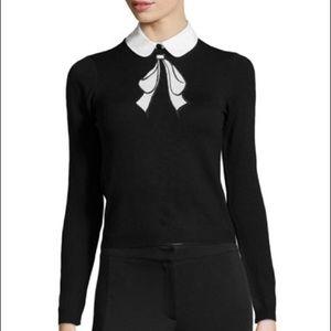 Alice + Olivia Embellished Bow Collar Sweater