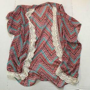 Liberty Love Chevron Kimono