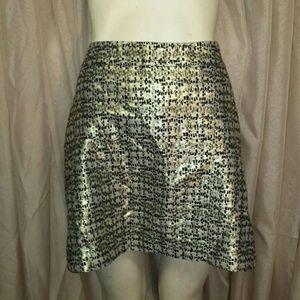 NWOT H&M Black & Gold Mini Skirt