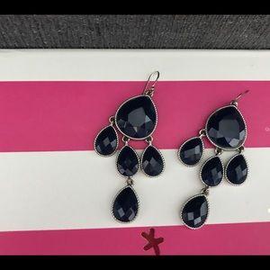 Jewelry - Navy &Silver Drop Earrings 💙