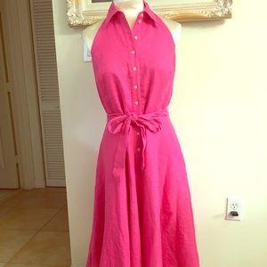 Pink Halter dress by Ralph Lauren