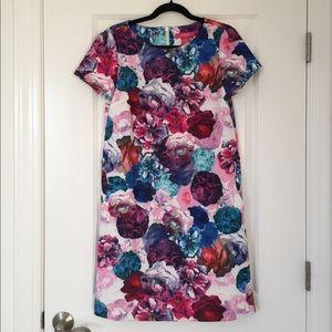 Catherine MaLandrino Floral Shift Dress