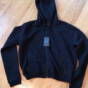 🆕Armani Exchange black hoodie NWT. SIZE s