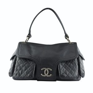 Chanel Dallas Caviar Quilted Satchel (130529)