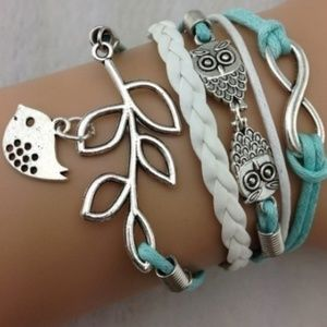 Jewelry - TRENDY OWL AND BIRD BRACELET. New!!!