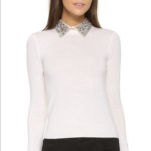 Alice + Olivia Rosalind Embellished Collar Sweater