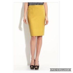 Just In💕 Mustard Knit Pencil Skirt