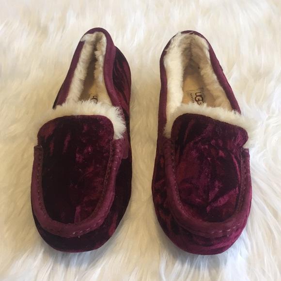 12ad13f41cb UGG Ansley Velvet Slipper Moccasins