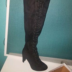 Thigh high heel boot