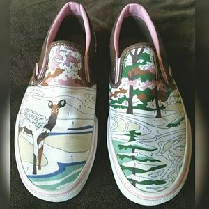 *RARE* Vans Paint by Numbers Womens Slip-on size 9