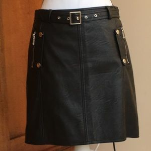 Brand new black faux leather skirt