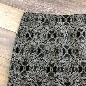 Talbots Damask Wool Pencil Skirt