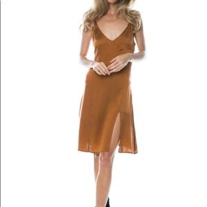 NWT $179 Arnhem Venus Slip Dress Size 12 Bronze