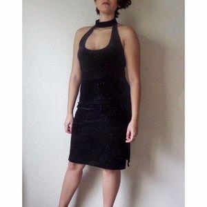 Vintage Velvet Black Dress - Holidays & New Years