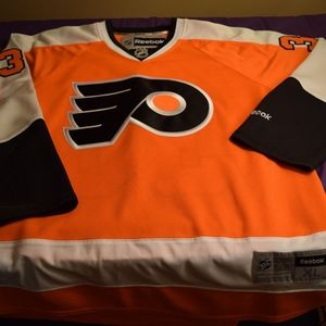 9169b0c29 Reebok NHL Shirts - Men s Ilya Bryzgalov Philadelphia Flyers Jersey