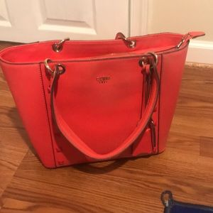 Large Red Guess Tote Handbag