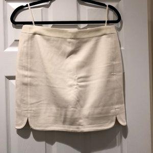 Cream Wool J. Crew Mini Skirt