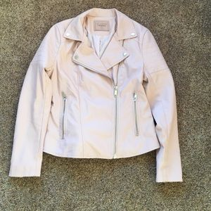 Blanknyc blush leather jacket