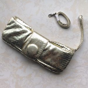 Express: Metallic Gold Clutch