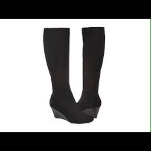 Cole Haan - Black suede wedge boots