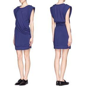 IRO Gaige Cap Sleeve Drapped Dress 36