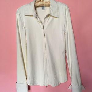CAbi zipper front shirt