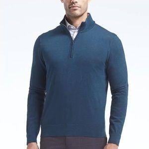 Men's banana republic quarter-zip pullover