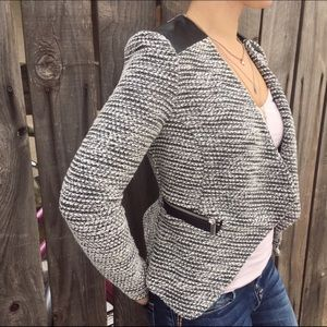 Black and White Fitted Jacket