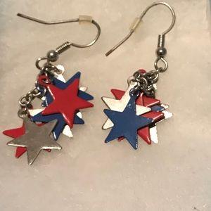 Jewelry - Star Dangle Earrings EUC