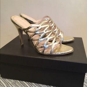Elie Tahari Leann Champagne Snake Leather Shoe