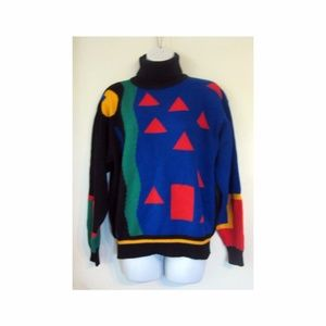 Awesome Vintage 80s Retro Sweater S