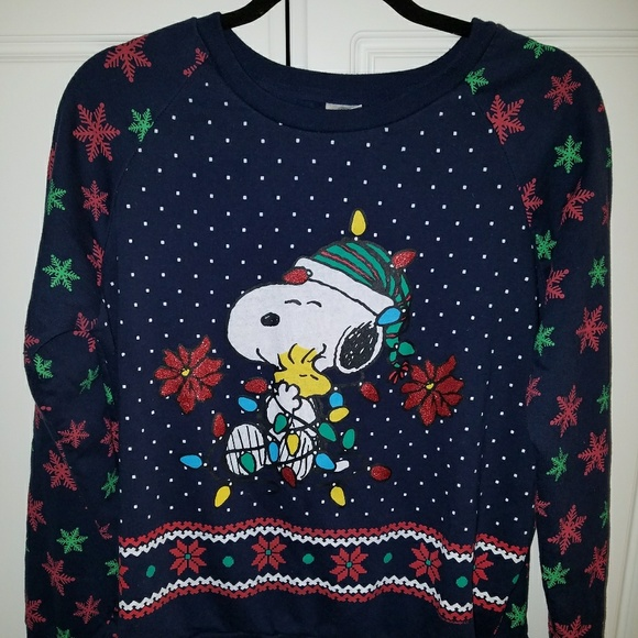 ugly christmas sweater original snoopy peanuts