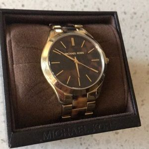 Michael Kors gold two-tone watch