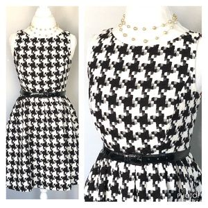 Audrey Inspired Houndstooth Dress SZ 8