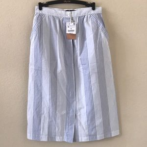 NWT Zara Button Front Prairie Skirt sz M