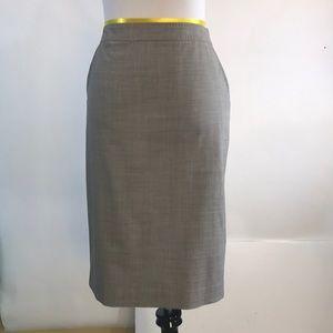 Banana republic beige wool lined pencil skirt 6