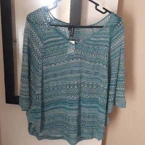 Crocheted pattern pancho