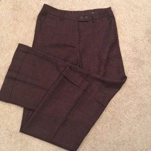Burgundy tweed wide leg trousers
