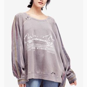 Free People Distressed Sweatshirt