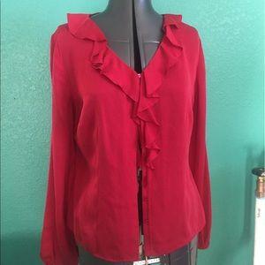 Ann Taylor Loft silk blouse NWT