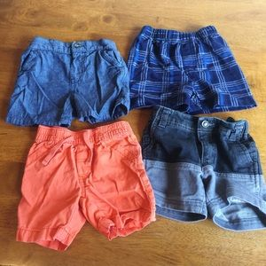 Other - 12M Baby Shorts Bundle Set of 4, Various Brands