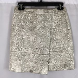 J.crew metallic mini skirt silver size 0 festive